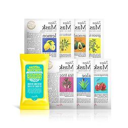 Ariul Natural Face Mask Facial Sheet Mask Pack, 7 Days Mask