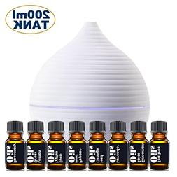 Essential Oil Diffuser Gift Set – Includes Top 8 Essential