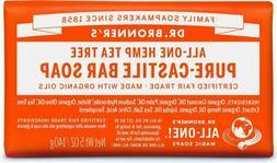 Dr. Bronner's All-One Hemp Tea Tree Pure-Castile Bar Soap, 5