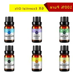 Essential Oil Set -6 Pack- Aromatherapy Therapeutic Grade Oi