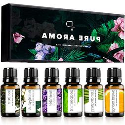 PURE AROMA Essential Oils, Therapeutic Grade, 2 Boxes of 6 x