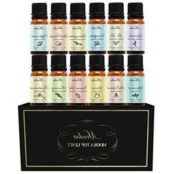 Essential Oils, Mooka Top 12 100% Pure Therapeutic Grade Aro