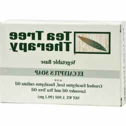 Tea Tree Therapy Eucalyptus Soap Vegetable Base -- 3.5 oz
