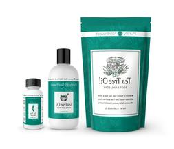 Purely Northwest Foot and Toenail Kit with 16 oz Tea Tree Oi