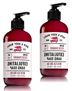 Set of 2 Bath and Body Works Frosted Cranberry Exfoliating H