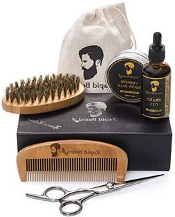 Beard Grooming Trimming Kit Christmas Gift Set Men Care Comb