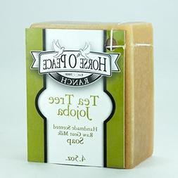 Handmade Herbal 100% Raw Goat Milk Tea Tree Jojoba Soap