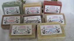 HANDMADE NATURAL & ORGANIC VEGAN SOAP BARS, MANY SCENTS, 3.5