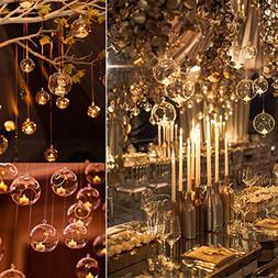 "3"" Hanging Glass Globe Candle Holder Bulk Sale Pack of 12"