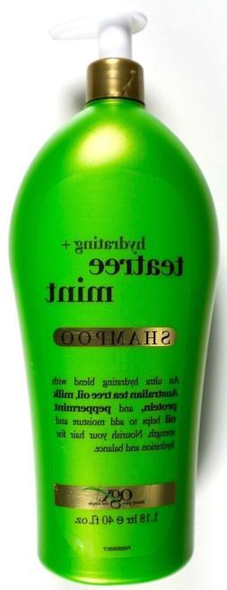 OGX Hydrating + Tea Tree Mint Shampoo, 40 FL OZ