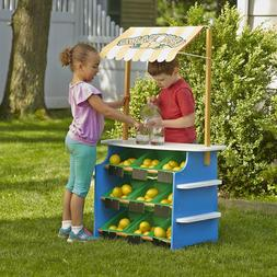 Wooden Grocery Store Lemonade Stand Kid Pretend Play Toy Tod