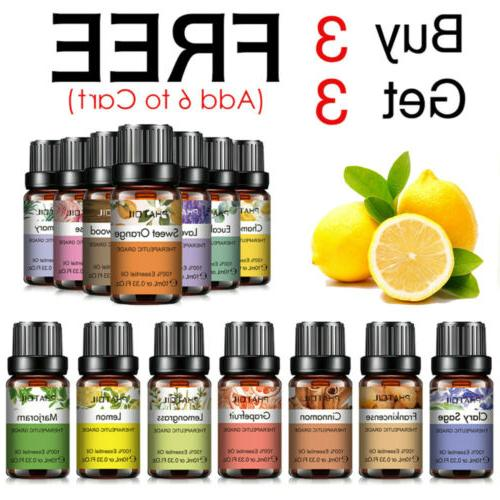 10ml essential oils 100 percent pure aromatherapy