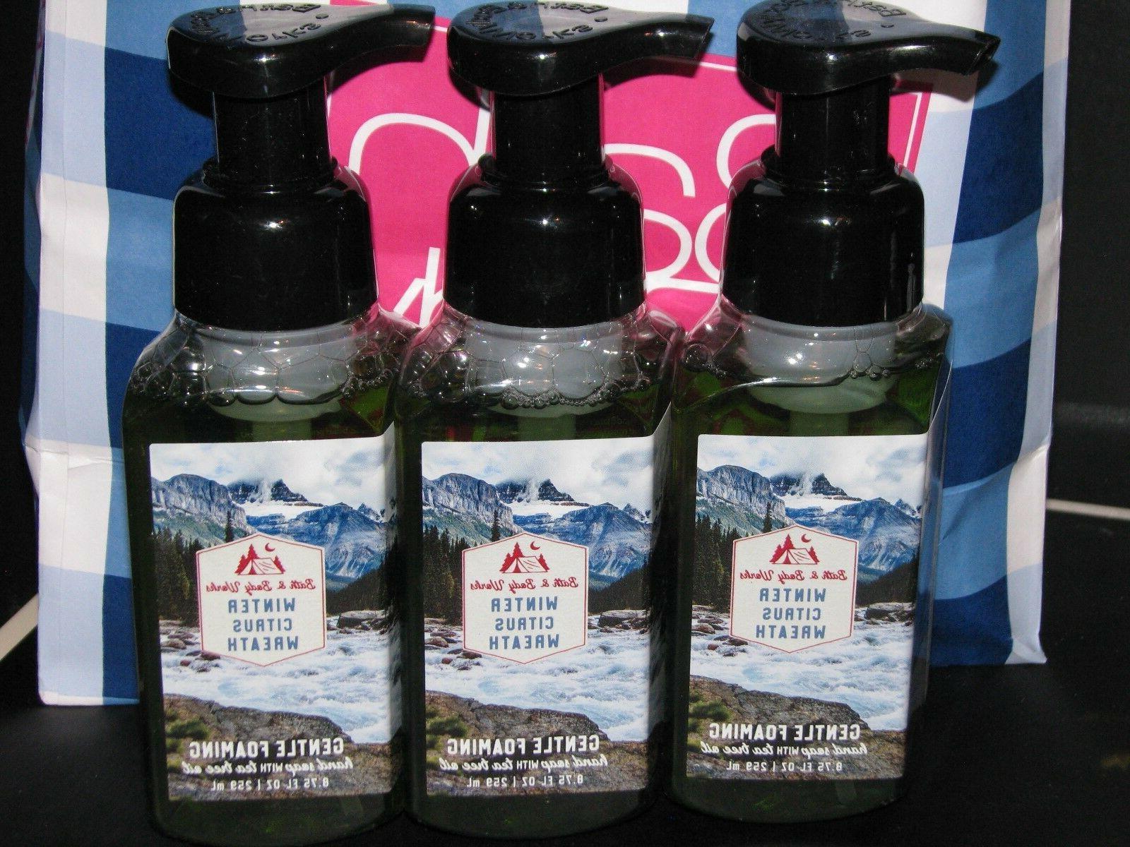 3 Bath Body Works WINTER CITRUS WREATH Foaming Hand SOAP 8.7