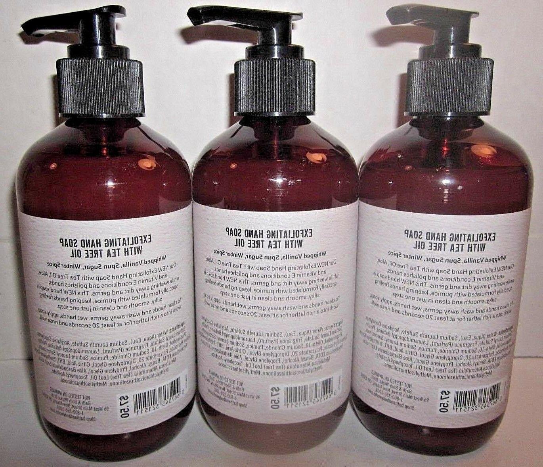 3 bottles Body Works Exfoliating Hand Soap tea tree Vanilla