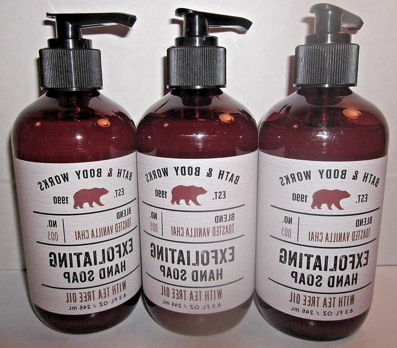 3 bottles bath and body works exfoliating