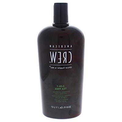 American Crew 3-In-1 Shampoo Conditioner & Bodywash, Tea Tre