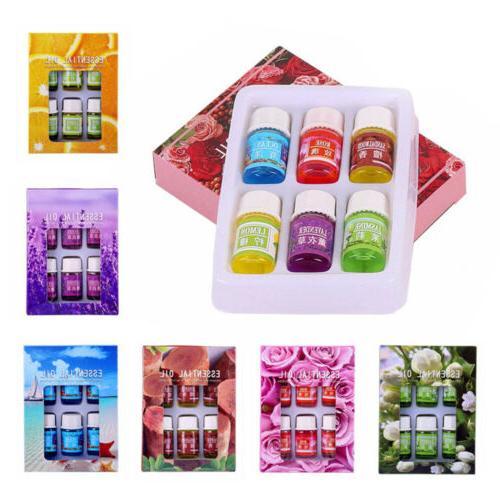6Pcs Essential Oil Pure Natural Aromatherapy Diffuser Therapeutic Grade