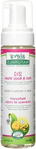 Aleva Naturals 2 in 1 Hair & Body Wash, 6.7 fl.oz