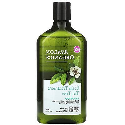 Avalon Organics Scalp Treatment Tea Tree Shampoo, 11 oz.