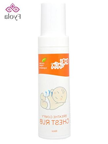 Best Natural Baby Chest Rub  for Better Sleep, Soothing Vapo