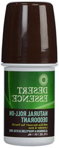 Desert Essence: Natural Roll-On Deodorant, Organic Tea Tree