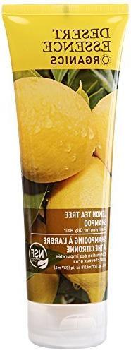 Desert Essence Organics Lemon Tea Tree Shampoo for Oily Hair