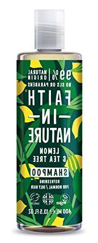 Faith In Nature Anti-Dandruff Lemon & Tea Tree Shampoo 400ml