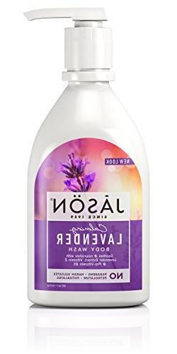 JASON Calming Lavender Body Wash, 30 Ounce Bottle