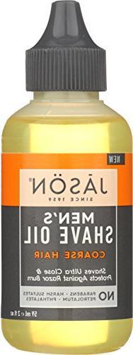 JASON Men's Coarse Hair Shave Oil, 2 oz.