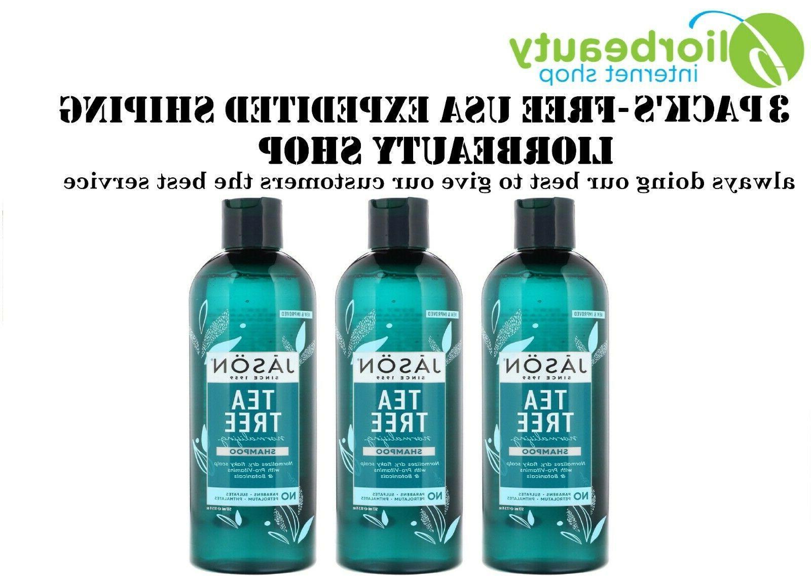JASON NATURAL PRODUCTS SHAMPOO,T TREE OIL THERPY 17.5 OZ 1-E