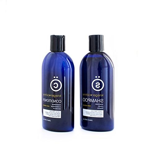 K + S Salon Shampoo and Conditioner Set for Men, Hair Loss,