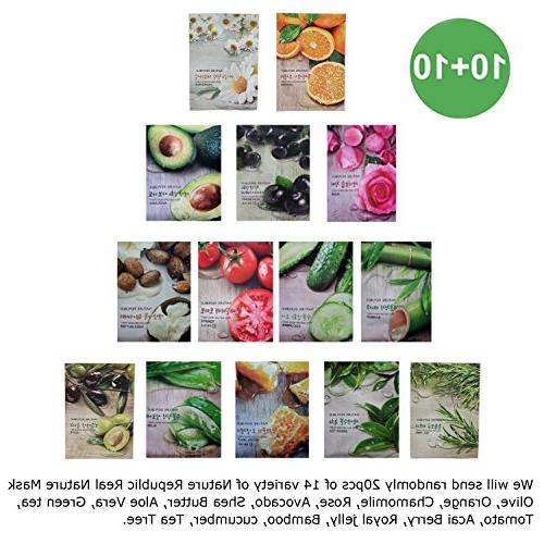 Nature Republic Real Nature Mask Sheet 10+10