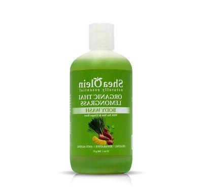 Organic Thai Lemongrass Body Wash with Tea Tree Oil & Ginger