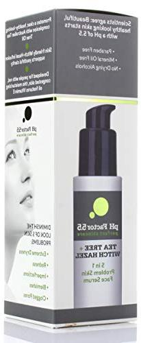 PH Factor Tree Face Witch Hazel, E for Clogged Extreme Skin, and Skin Blemishes. Large 2 fl oz