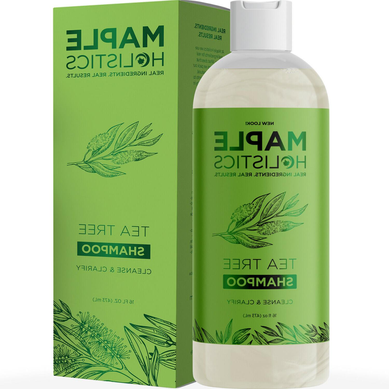 Pure Tea Tree Oil Shampoo for Dandruff Jojoba Rosemary Argan