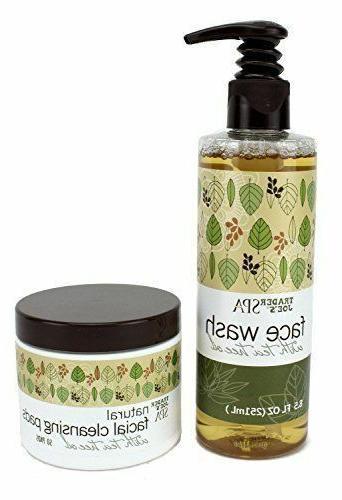 TRADER JOE'S SPA SET face wash with Tea Tree Oil & natural f