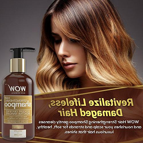 WOW Strengthening Shampoo for Hair Treatment for Thin Weak Tea Tree oil - Sulfate Fl Oz