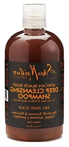 Shea Moisture African Black Shampoo Deep Cleansing 13oz by S
