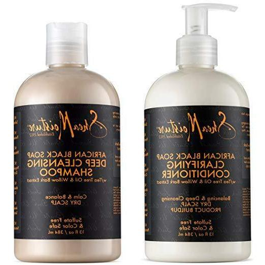 african black soap shampoo and conditioner set