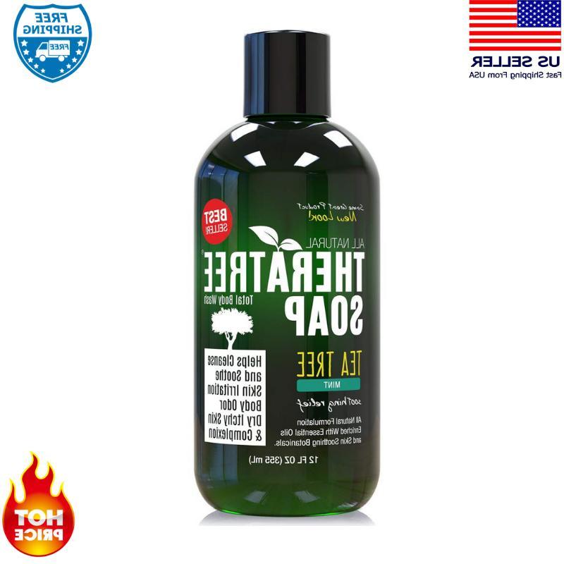 Antifungal Body Soap Wash Oleavine Tea Tree Neem Organic Nat