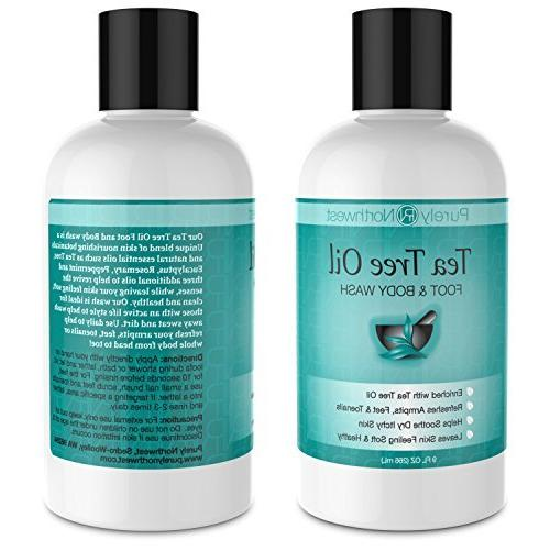 Antifungal Oil Body Wash, Foot, Ringworm, Toenail & Soothes Itching & Feet, Skin 9oz