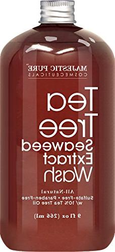 Antifungal Tree Body Wash, Natural for Women with 10% Tea Athletes Itch, Body 9 oz