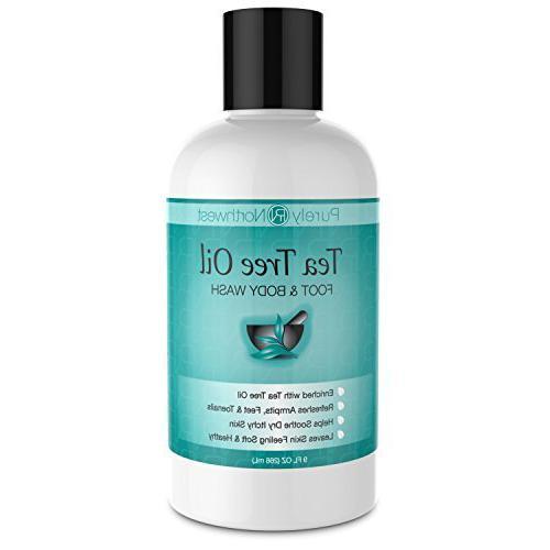 antifungal tea tree oil body wash helps