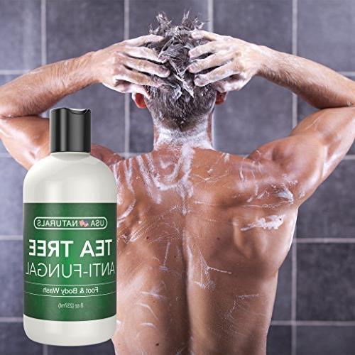 Antifungal Tea Body Wash Helps Toenail Itch Soothes Eczema & Irritations-Premium Anti-fungal Soap