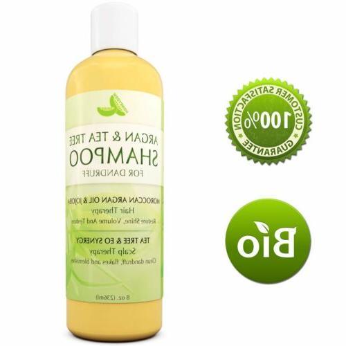 Argan & Tea Tree Oil Shampoo Anti Dandruff + Shiny + Smooth