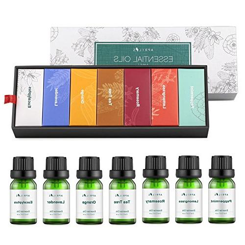 Aromatherapy 7 Oils Pure Therapeutic-Grade, Essential Oil - Basic Sampler