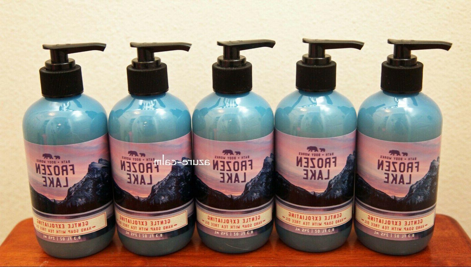 bath body works frozen lake exfoliating hand