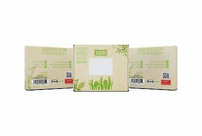 Venoly 100% Disposable/Biodegradable/Compostable Forks