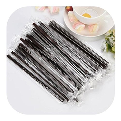 black plastic straws