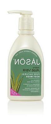 Jason Body Wash Shower Gel Pump organic aloe vera rosewater